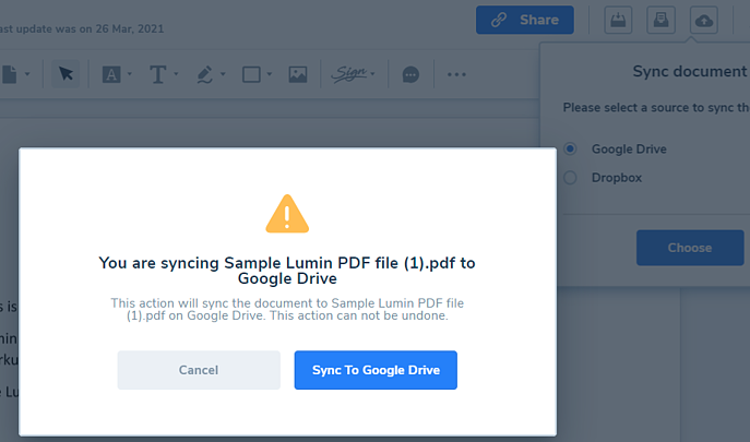 Copy-to-sync-to