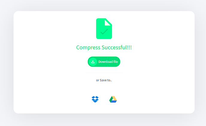 Tools-compress-success